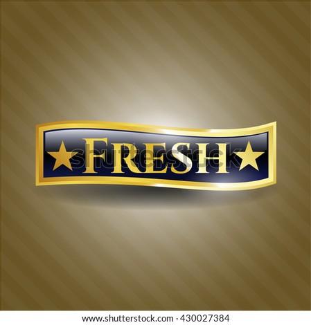 Fresh gold shiny badge