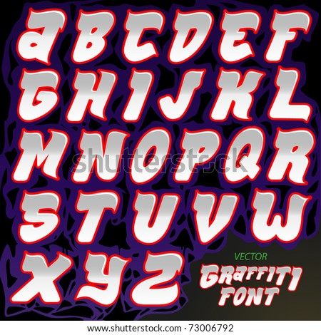 Graffiti font crafted type full english alphabet a to z letters