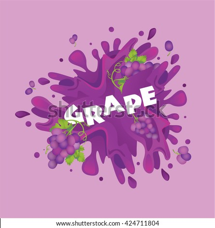 fresh grapes fruit juice splash