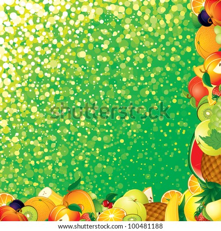 Fresh Green Fruit Background