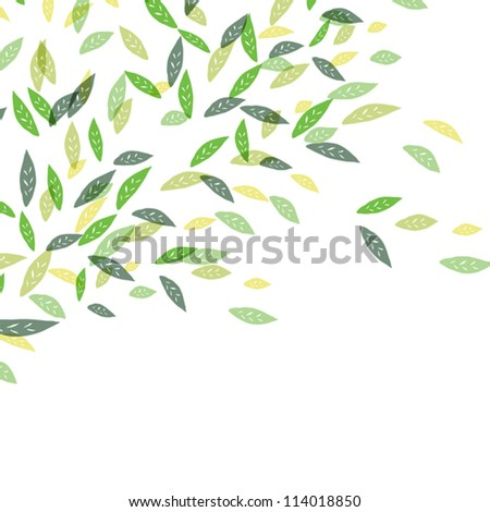 Fresh green leaves. Vector illustration, EPS10.