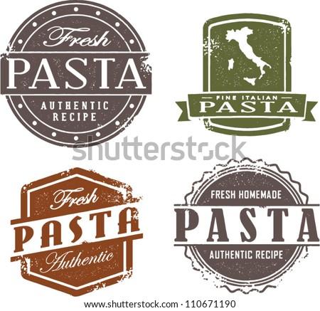 Fresh Italian Pasta Stamp