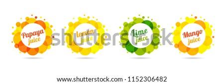 fresh juice papaya  lemon  lime