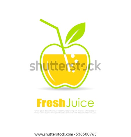 fresh juice vector logo