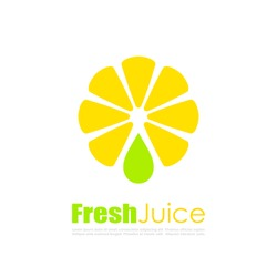 Fresh juice vector logo isolated on white background