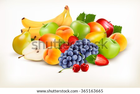 fresh juicy fruit and berries
