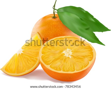 fresh juicy orange