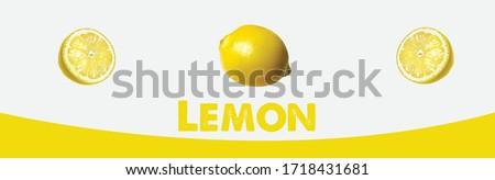 Fresh lemon fruits, Lemons icon vector illustration set. Creative layout made of lemon and leaves. Flat lay. Food concept. Lemon on white background. lemon fruit with leaf isolated on white background