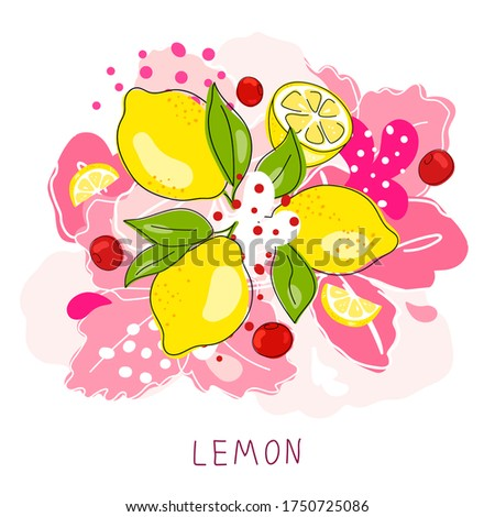 fresh lemon  sweet cherry