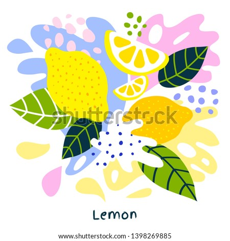 fresh lemon tropical exotic