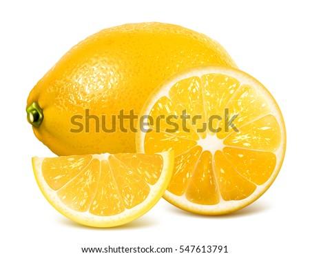 fresh lemon  whole lemon and