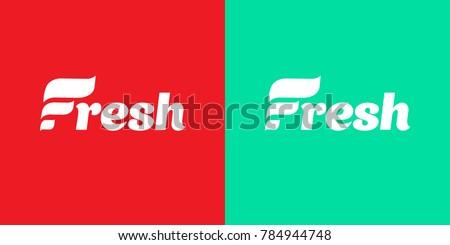 fresh logo company logo with