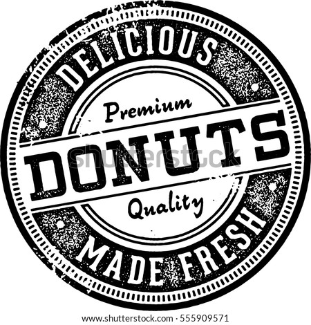 fresh made donuts vintage style ...