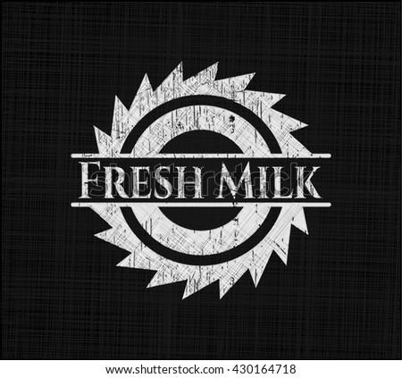 Fresh Milk chalkboard emblem