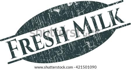 Fresh Milk grunge stamp