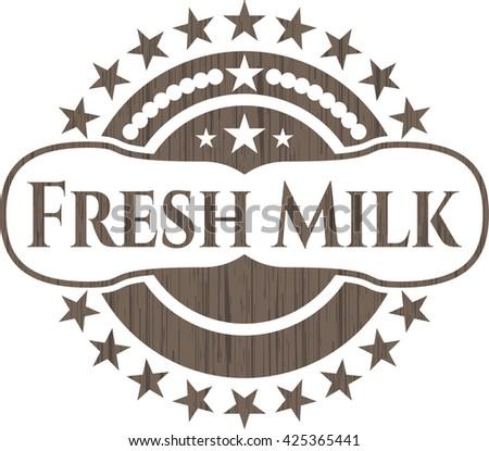 Fresh Milk retro wooden emblem