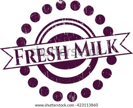 Fresh Milk rubber grunge texture seal