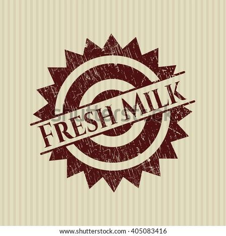 Fresh Milk rubber seal with grunge texture