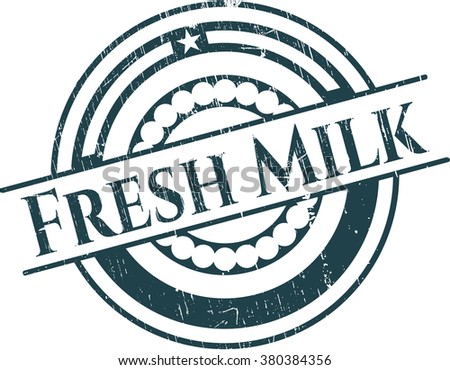 Fresh Milk with rubber seal texture