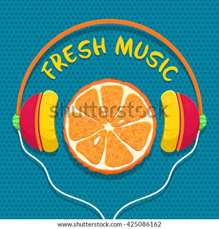 fresh music orange slice in