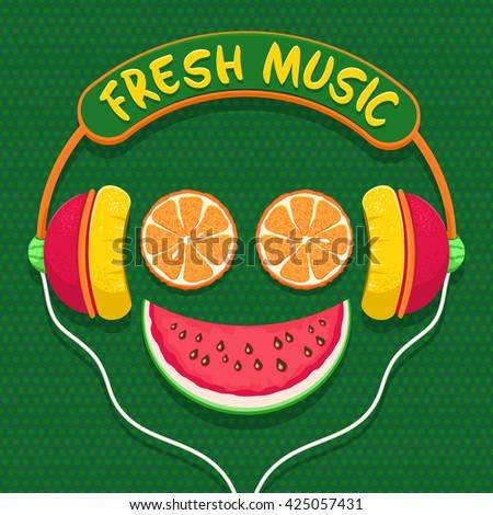 fresh music orange slices and
