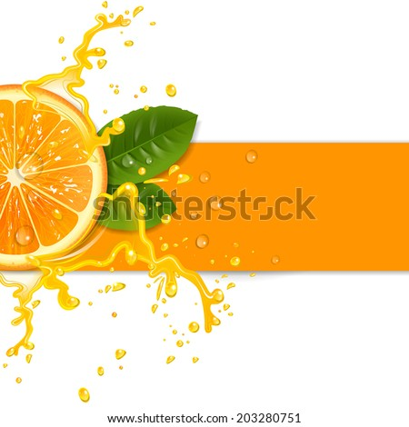 fresh orange background with