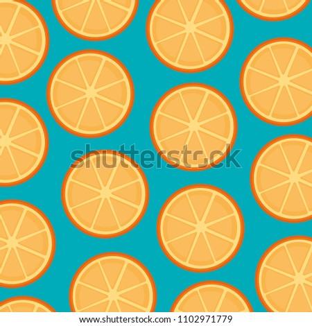 fresh oranges fruits pattern background
