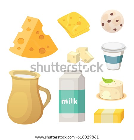 Shutterstock Fresh organic milk products set with cheese, butter, coffee, sour cream and ice cream.