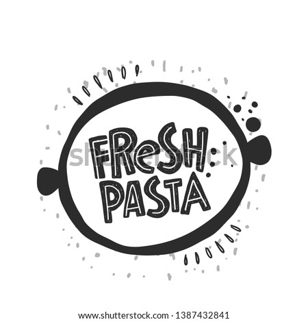 fresh pasta icon hand drawn