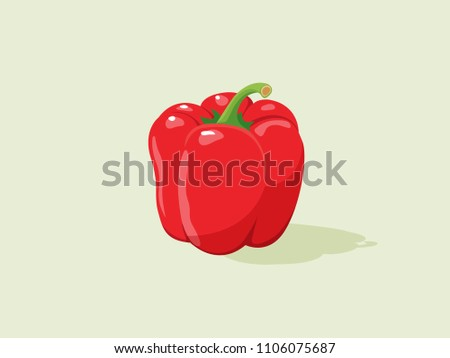 fresh red pepper vegetable