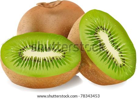 fresh ripe kiwi