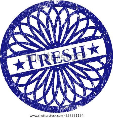 Fresh rubber grunge texture stamp