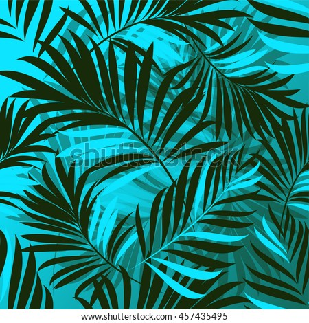 fresh tropical green palm