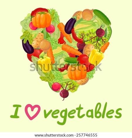 Fresh vegetables from the garden. Carrot, cabbage, green peas, peppers, chili, pumpkin, zucchini, radish, corn, eggplant, tomato, onion, beet, cucumber, potato. The inscription \