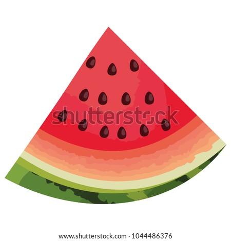 fresh watermelon sliced fruit icon