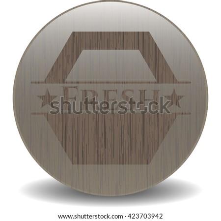 Fresh wood emblem. Retro