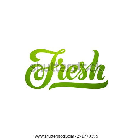 fresh word hand lettering