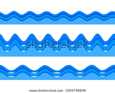 Stock Photo Freshness natural theme, a Fresh Water background of blue. Elements design seamless wave. Abstract wavy Vector illustration eps10