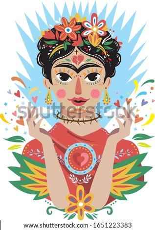 FRIDA ART MEXICAN WOMAN ARTIST