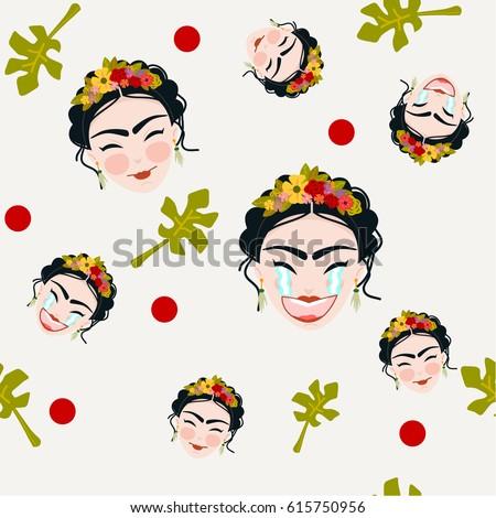 Frida Kahlo Ilustraciones Vectoriales Descargue Gráficos Y