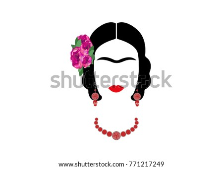 frida kahlo vector portrait