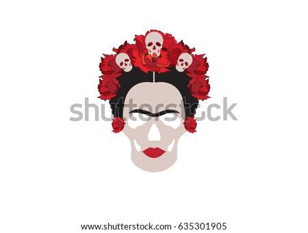 frida skull la calavera