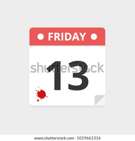 friday the 13th bloody calendar