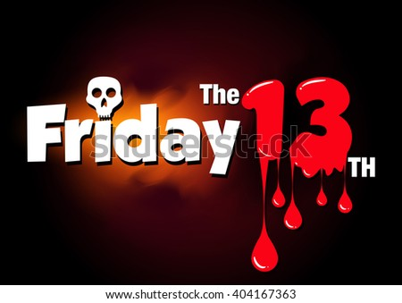 friday the 13th vector banner