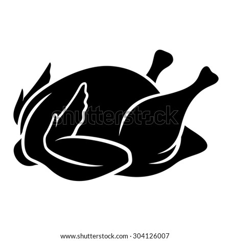 Roast Chicken Vector, Christmas Related Filled Style Icon ...  Roast Chicken Vector