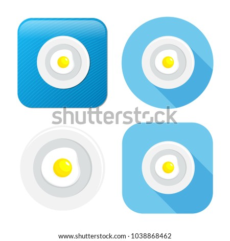 fried egg icon - breakfast meal icon - healthy food -