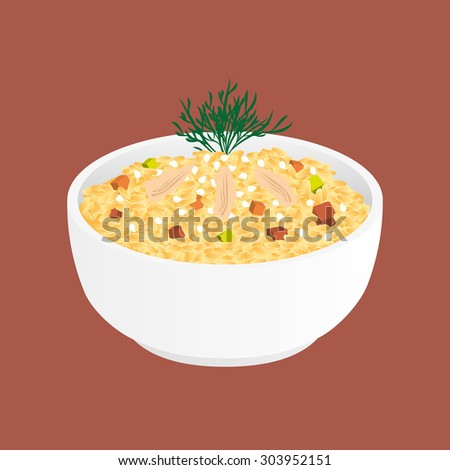 fried rice with chicken and
