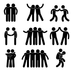 Friend Friendship Relationship Teammate Teamwork Society Icon Sign Symbol Pictogram