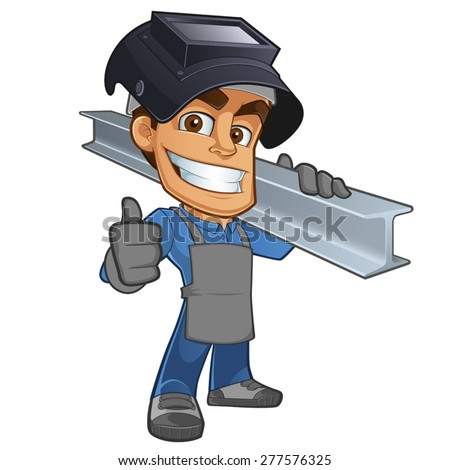 friendly blacksmith or welder