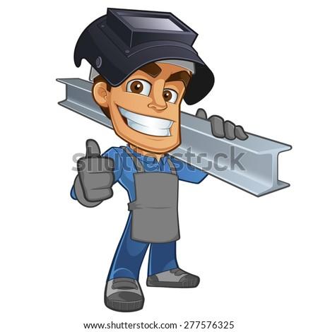 friendly blacksmith or welder